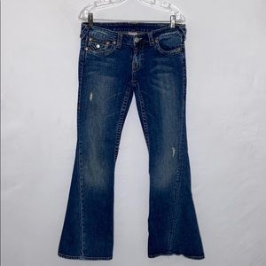True Religion Joey Twisted Seam Flared Jeans - 30